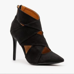 Anne Michelle Criss-Cross Stiletto Booties
